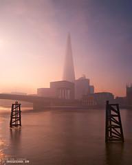 Peachy dawn / The Shard / London photo by zzapback