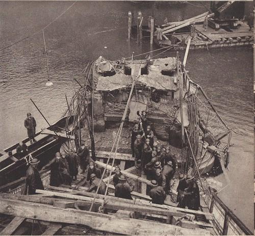 Pont de Laissey détruit, les sapeurs le réparent- Source : éditions GP - Du Tchad au Danube