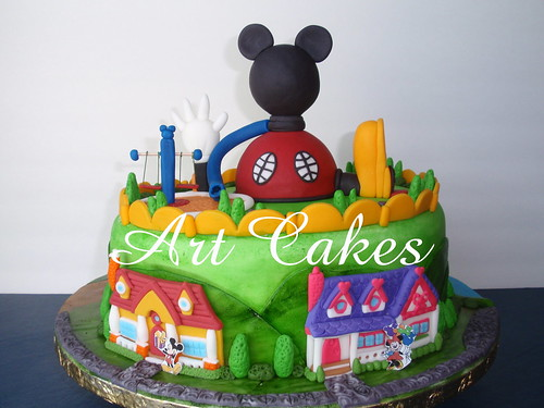 Mickey Mouse Club House Cake photo by Art Cakes
