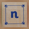 Block Lowercase Letter n