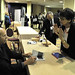 Alex Kotlowitz signs books at the Visible Voice book stand