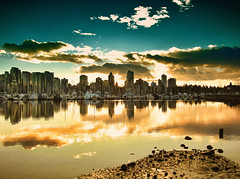 . Vancouver BC ... winter sunset photo by Nick Kenrick..