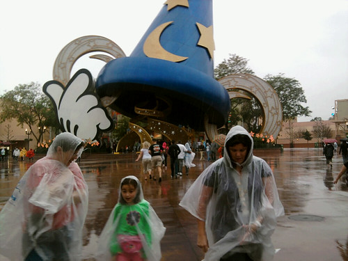 Another rainy day at Disney World.