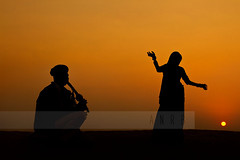 The desert, camel and the people of Rajastan in Silhouette photo by Amar Ramesh Photography