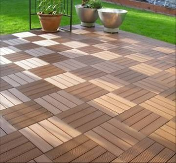 Composite decking tiles, attractive and dependable decking solution