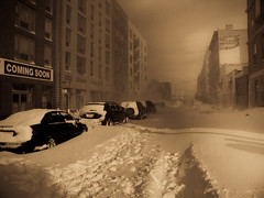 Winter Storm Williamsburg Kent Ave N 6Th Street photo by Krzysztof Zglejc