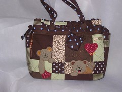 Bolsa maternidade patchwork ursinhos photo by Beth Zenari 100% artesanal