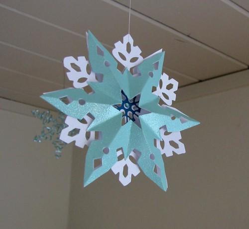 cardstock snowflake ornament