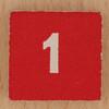 Square Wooden Bingo Number 1