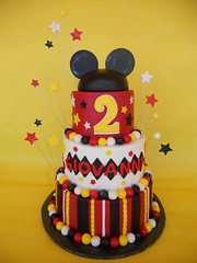 Mickey Ears Themed Birthday Cake photo by CakesUniqueByAmy.com