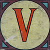 Vintage Brick Letter V
