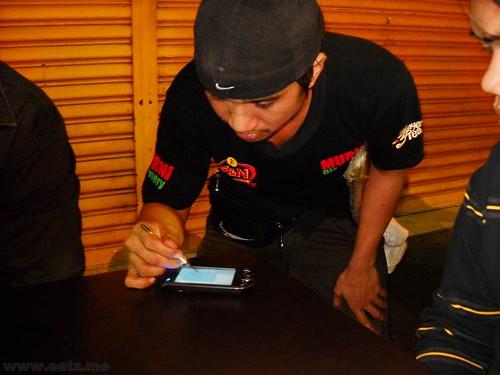 Taking order via PDA