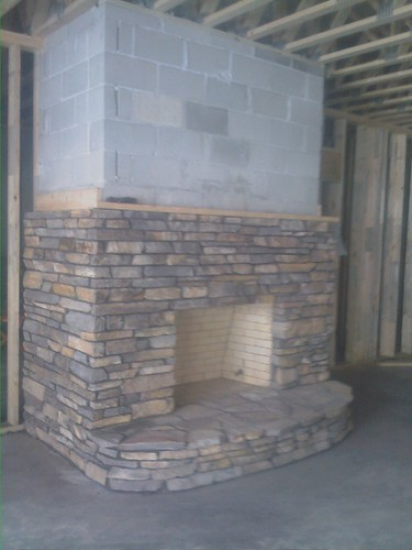 Salin basement fireplace
