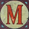 Vintage Brick Letter M