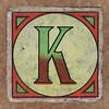 Vintage brick letter K