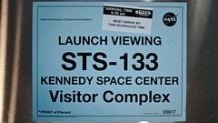 STS-133 Vehicle Placard