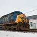 CSX 93 Passes a Fostoria Freight Depot