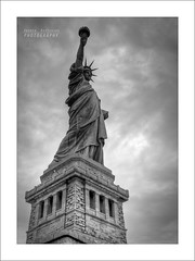 Liberty in b&w photo by Andrea Rapisarda