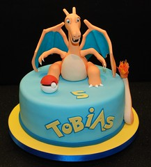 Pokemon Birthday Cake Featuring Charizard photo by icing heaven