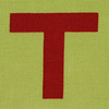 Fabric letter T