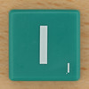 Scrabble White Letter on Green I