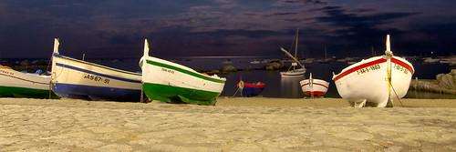 Moonlight boats