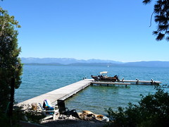 View from family cabin on Flathead Lake