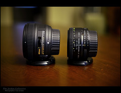 Comparison in size of the Nikkor 50mm 1.8G and 1.8D photo by The Jordan Collective