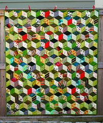 tumbling block / Fergus's Quilt photo by drury girl