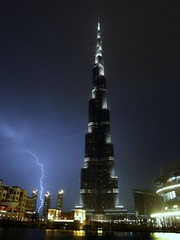 Burj Khalifa, Dubai   lightning  برج خليفة، دبي   البرق photo by Sir Francis Canker Photography ©