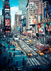 times square action - new york city photo by pamela ross