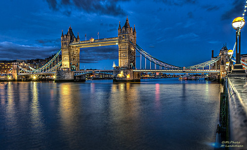 Tower Bridge during the blue hour...(Explored) photo by .Markus Landsmann - markuslandsmann.zenfolio.com