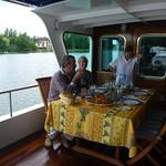 C'est la Vie lunch on deck