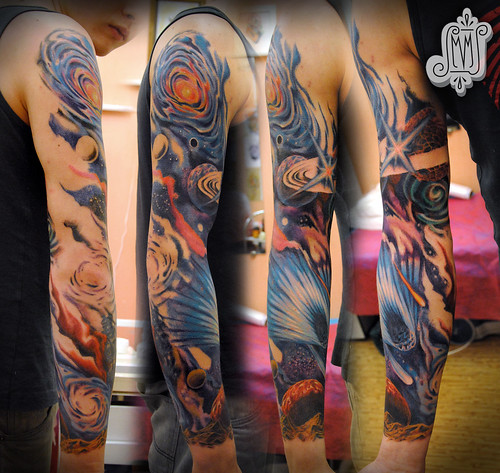 Space Tattoo Sleeve