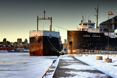 Ships in a frozen harbor. photo by Dan Cronin^