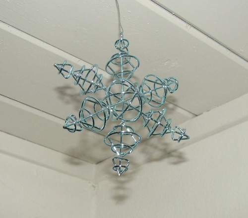 atomic snowflake ornament