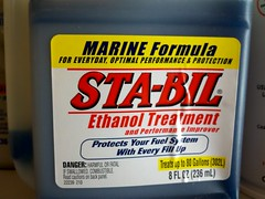 Stabil treatment for gas. Used to store bikes for winter