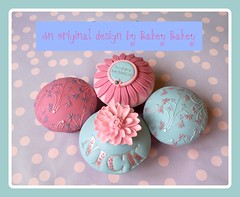 Bakey Bakey Laura Ashley inspired cupcakes photo by Bakey Bakey
