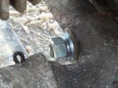 Ural engine mount repair