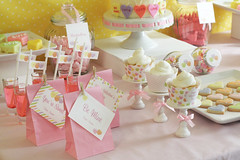 Valentine's Day - dessert candy buffet table photo by Green Apple Paperie