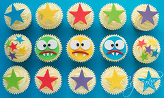 Monster Birthday Cupcakes photo by The Cupcake Studio