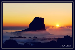 Sunrise from my house..Calpe Spain photo by dagmaf