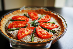 Savory Asparagus & Tomato Quiche Pies photo by Simply Stardust