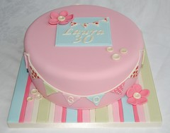 Cath Kidston Style Birthday Cake photo by thecustomcakeshop