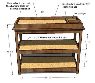 free furniture plans simple changing table 3
