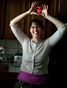 rachel has a heart!