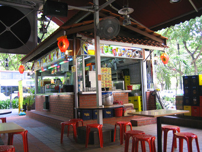 A hawker stall - drinks