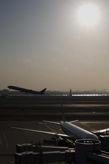 離陸と駐機