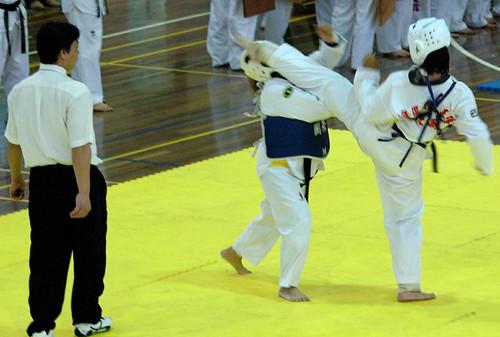 female sparring