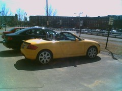 One heck of a yellow car!